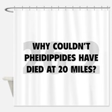 Pheidippides Miles Shower Curtain