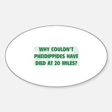Pheidippides Miles Decal