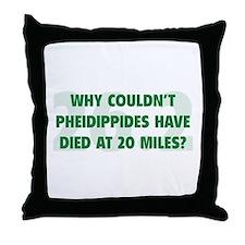 Pheidippides Miles Throw Pillow