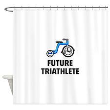 Future Triathlete Shower Curtain