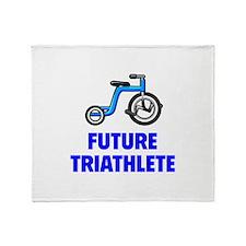 Future Triathlete Throw Blanket