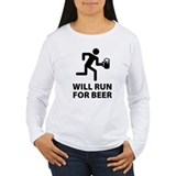 Will run for wine Long Sleeve T Shirts