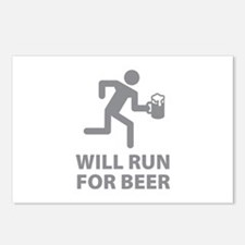 Will Run For Beer Postcards (Package of 8)