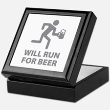 Will Run For Beer Keepsake Box