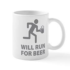 Will Run For Beer Small Mug