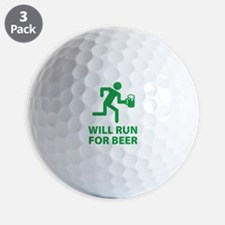 Will Run For Beer Golf Ball