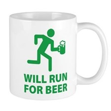 Will Run For Beer Small Small Mug