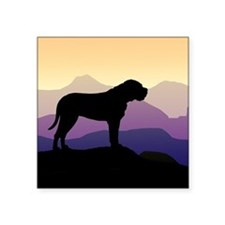 "bullmastiff purple mt sq3.jpg Square Sticker 3"" x"