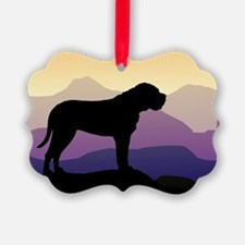 bullmastiff purple mt wd4.jpg Ornament