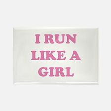 I Run Like A Girl Rectangle Magnet