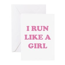 I Run Like A Girl Greeting Cards (Pk of 20)