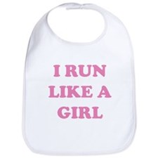 I Run Like A Girl Bib