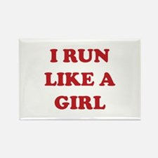 I Run Like A Girl Rectangle Magnet (100 pack)