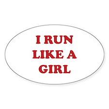 I Run Like A Girl Decal