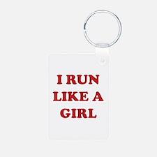 I Run Like A Girl Keychains