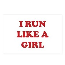 I Run Like A Girl Postcards (Package of 8)