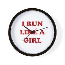 I Run Like A Girl Wall Clock