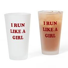 I Run Like A Girl Drinking Glass