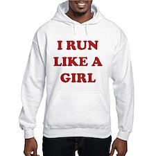 I Run Like A Girl Jumper Hoody