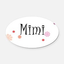 Mimi Retro Oval Car Magnet