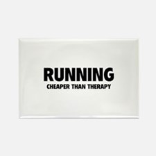 Running Cheaper Than Therapy Rectangle Magnet