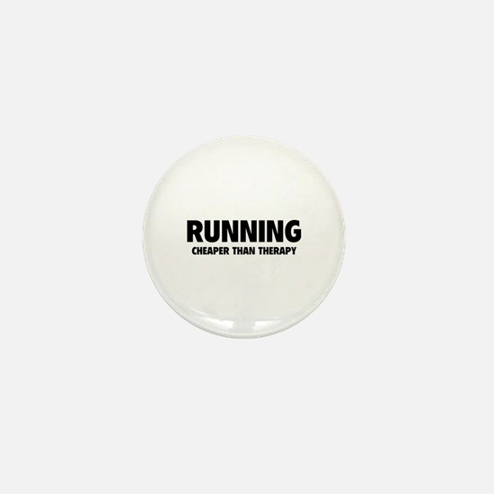 Running Cheaper Than Therapy Mini Button (10 pack)