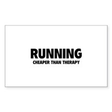 Running Cheaper Than Therapy Decal