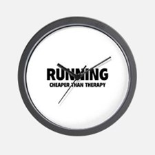 Running Cheaper Than Therapy Wall Clock