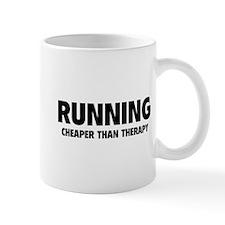 Running Cheaper Than Therapy Small Mug