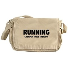 Running Cheaper Than Therapy Messenger Bag