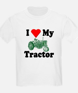I Love My Tractor Kids T-Shirt