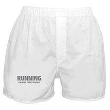 Running Cheaper Than Therapy Boxer Shorts