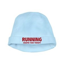 Running Cheaper Than Therapy baby hat