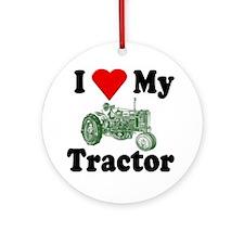 I Love My Tractor Ornament (Round)