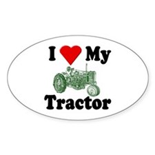 I Love My Tractor Oval Decal