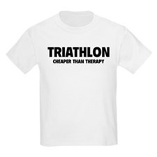 Triathlon Cheaper Than Therapy T-Shirt