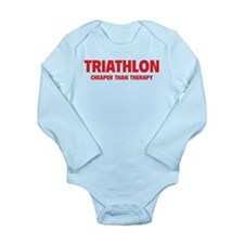 Triathlon Cheaper Than Therapy Long Sleeve Infant