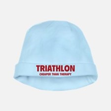 Triathlon Cheaper Than Therapy baby hat
