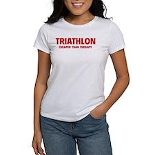Triathlon Cheaper Than Therapy Tee