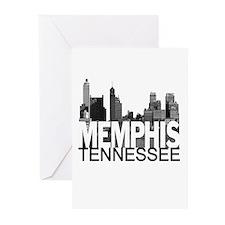 Memphis Skyline Greeting Cards (Pk of 20)
