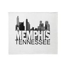 Memphis Skyline Throw Blanket