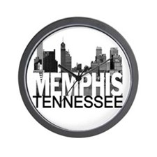 Memphis Skyline Wall Clock