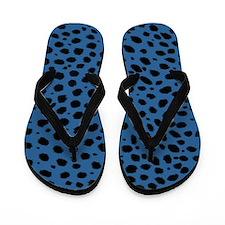 BLUE CHEETAH Flip Flops