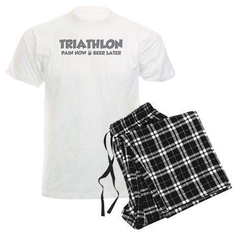 Triathlon Pain Now Beer Later Men's Light Pajamas