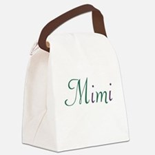 Mimi Green and Purple Canvas Lunch Bag