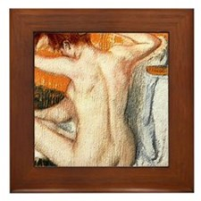 Edgar Degas Shower Curtain Framed Tile