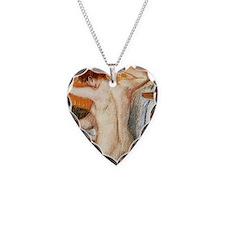Edgar Degas Shower Curtain Necklace Heart Charm