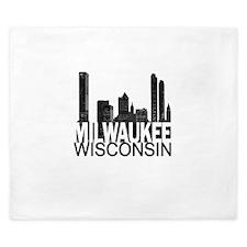 Milwaukee Skyline King Duvet