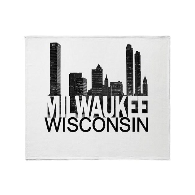 Milwaukee Skyline Throw Blanket By TheAllCity