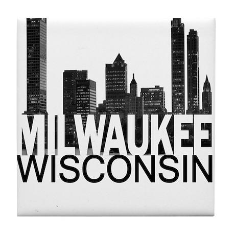Milwaukee Skyline Tile Coaster
